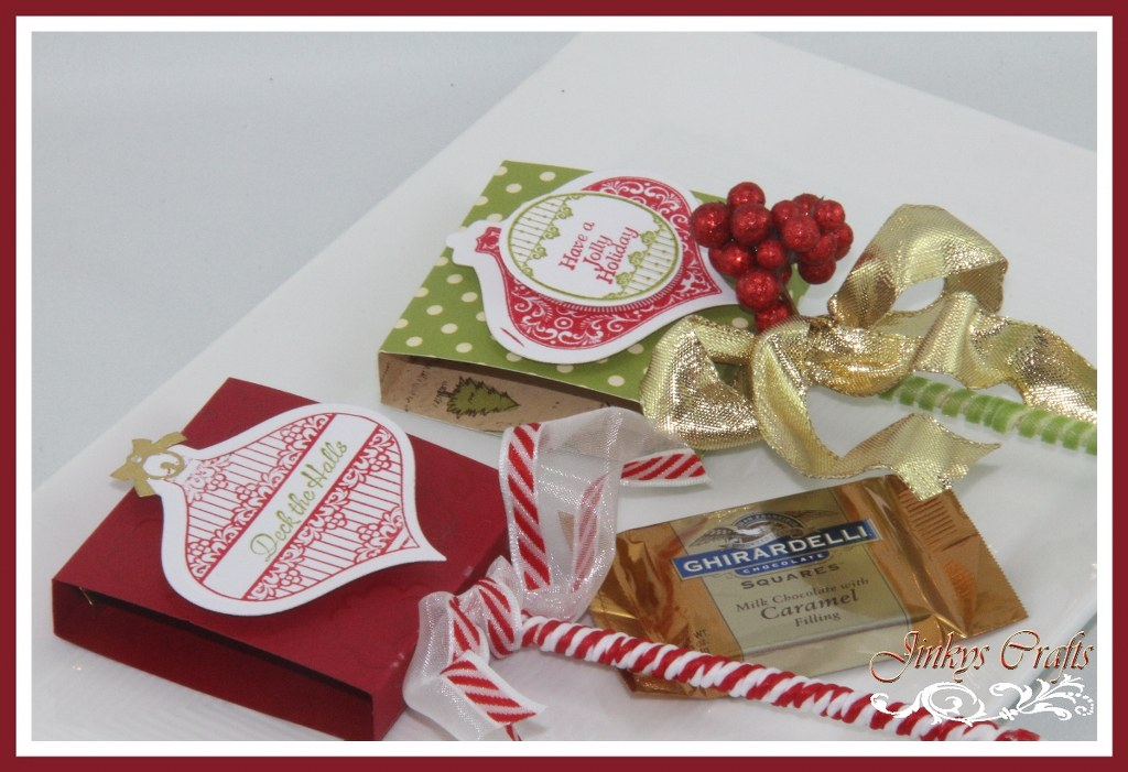 Christmas Lollipop Favor Box