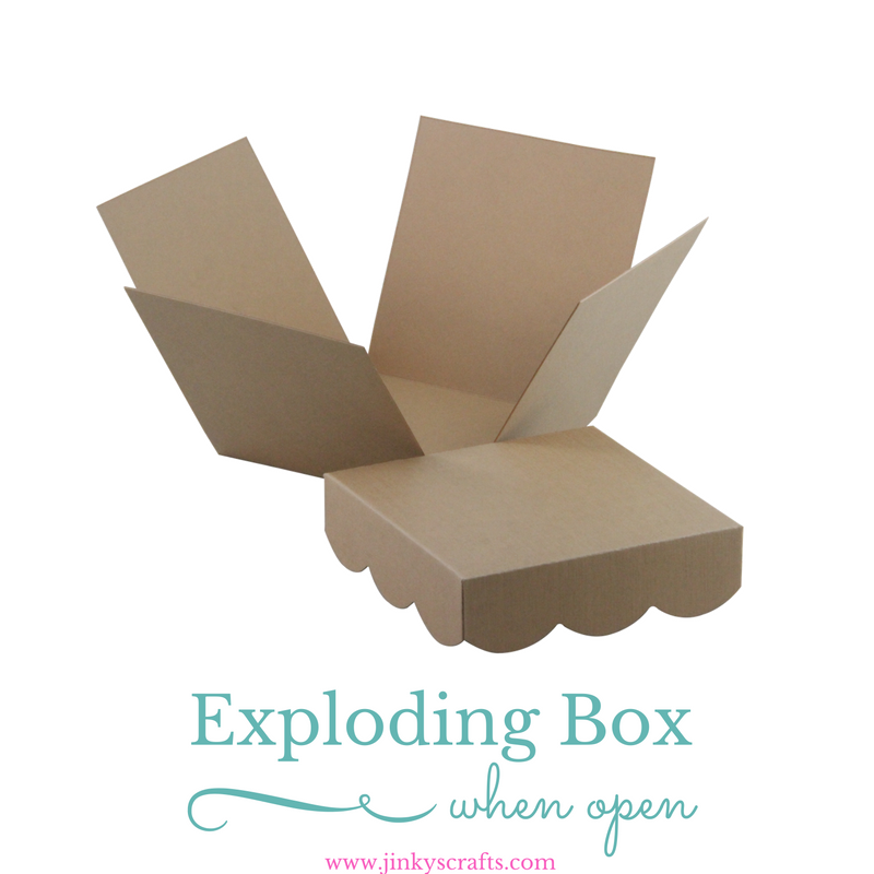 Kraft Exploding Box Diy Kit Jinkys Crafts