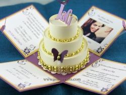 Gold & Purple Wedding Invitation