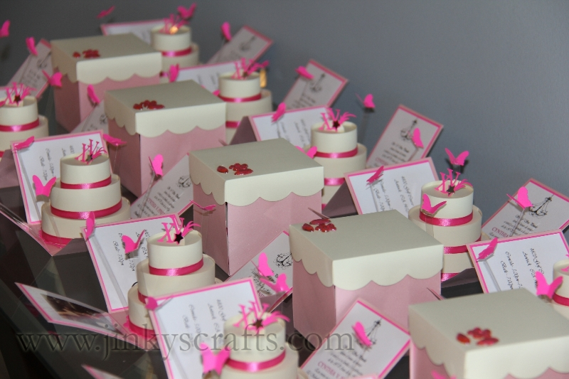 Pink & Creme Custom Invitations