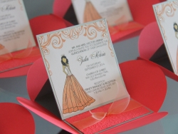 Princess Pochette Easel Invitation