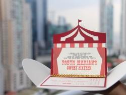 Circus Pochette Easel Invitation