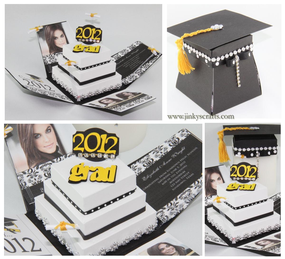 Graduation Pyramid Exploding Box - Jinkys Crafts