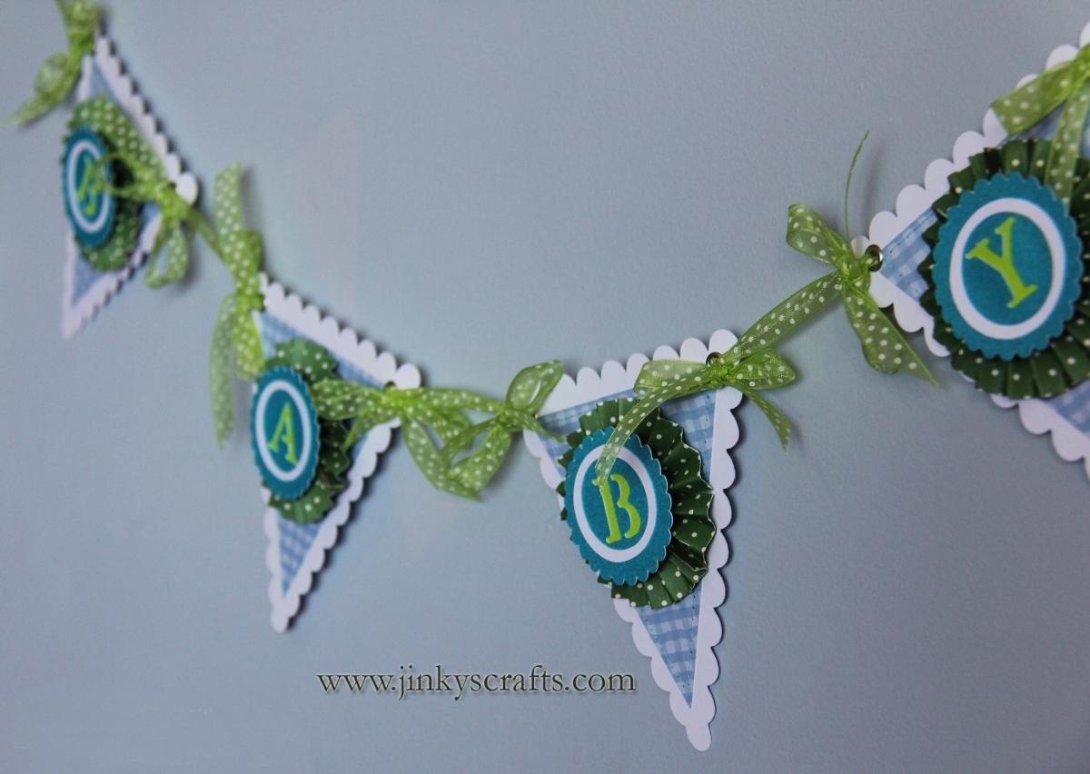 Pinwheel Rosettes Baby Banner Jinkys Crafts