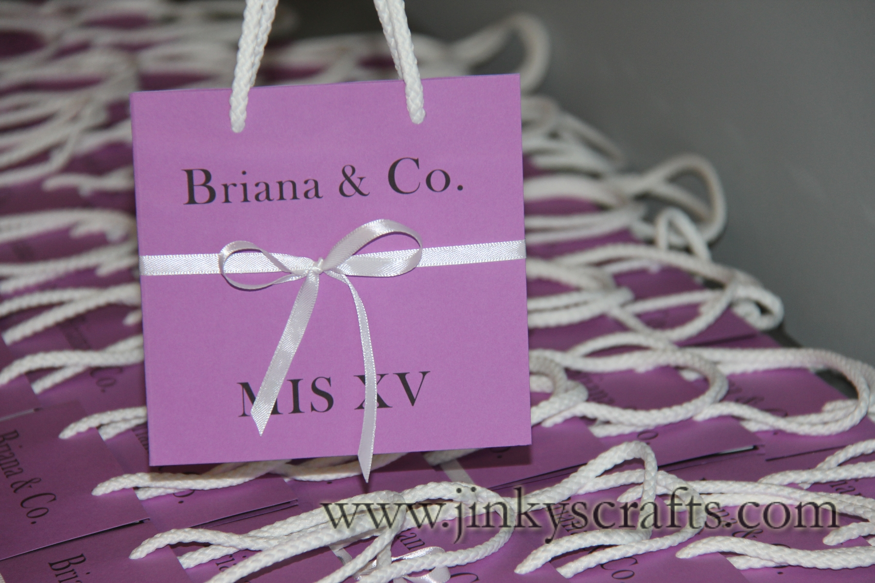 Quinceanera Invitation- Bag Style - Jinkys Crafts