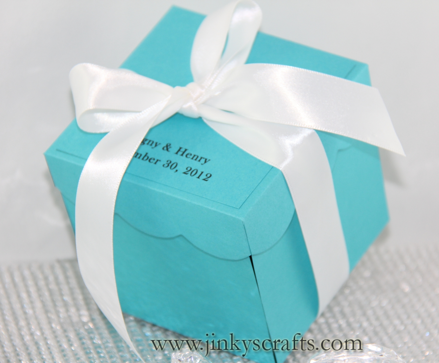 Tiffany theme Exploding Box Invitations1