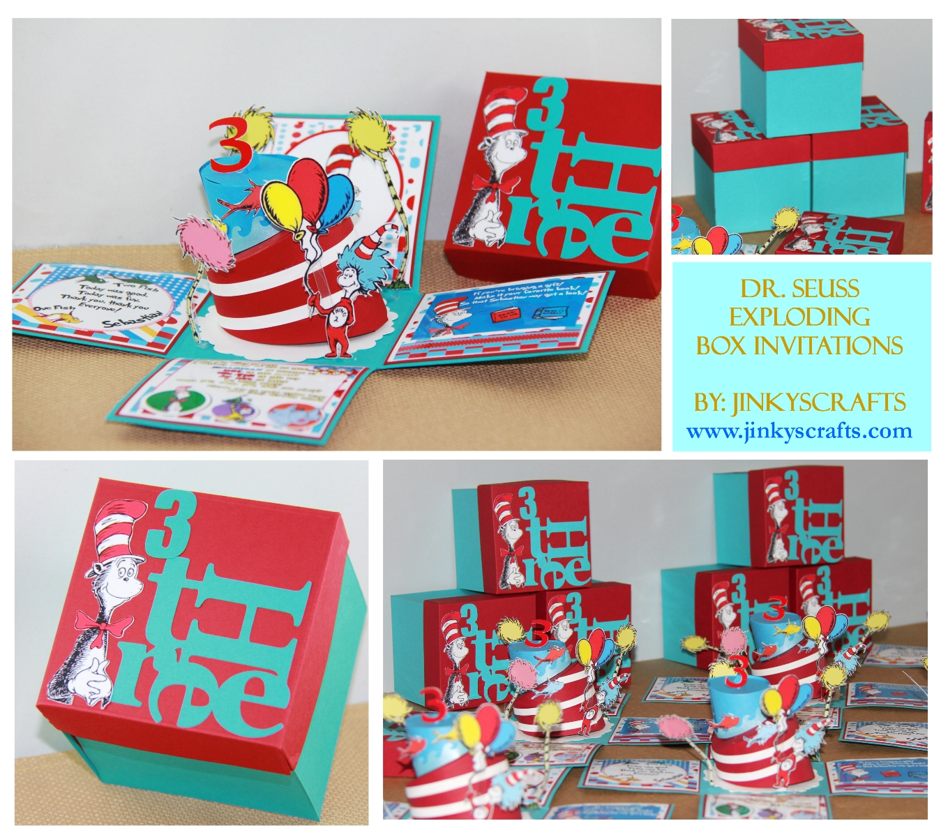 DR SEUSS THEMED PARTY INVITES Jinkys Crafts – Unique Birthday Invites