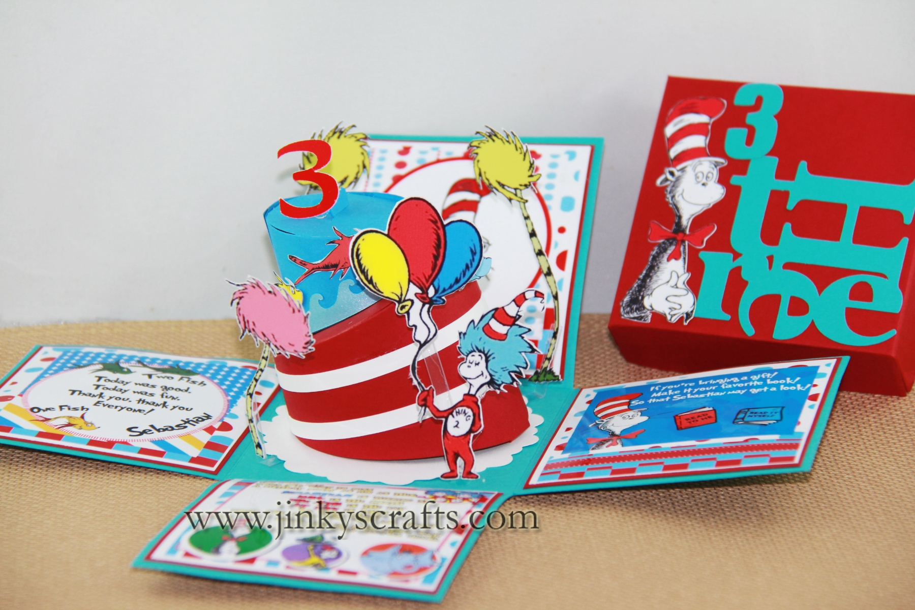 DR SEUSS BIRTHDAY BOX INVITATIONS Jinkys Crafts - Creative diy birthday invitations in a box