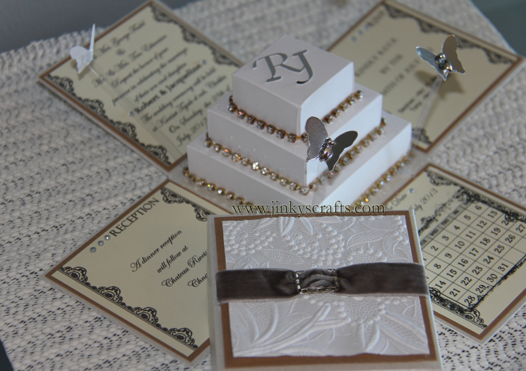 Bling + Modern + Glamorous +Luxurious Wedding Invitations