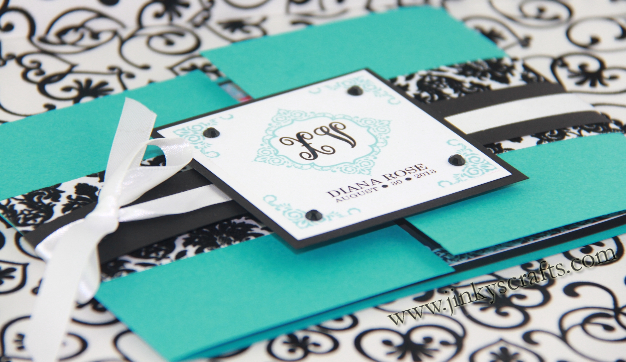Gatefold Tiffany Inspired Invitations1