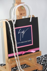 Fashionista Bag Invitations