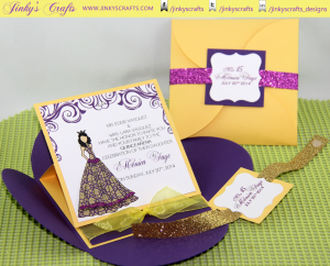 Princess Inspired Pochette - Petal Envelope Easel Card