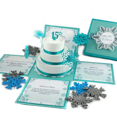 Winter Wonderland Quinceanera Invitation
