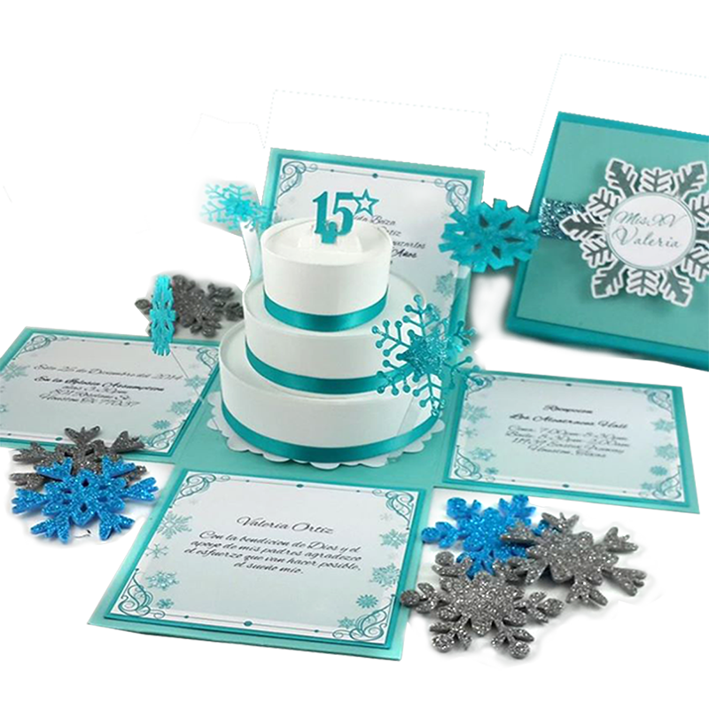 winter wonderland quinceanera invitation jinkys crafts