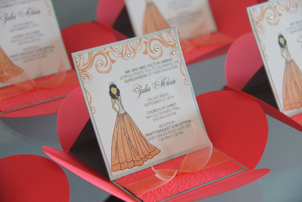 princess pochette easel invitations