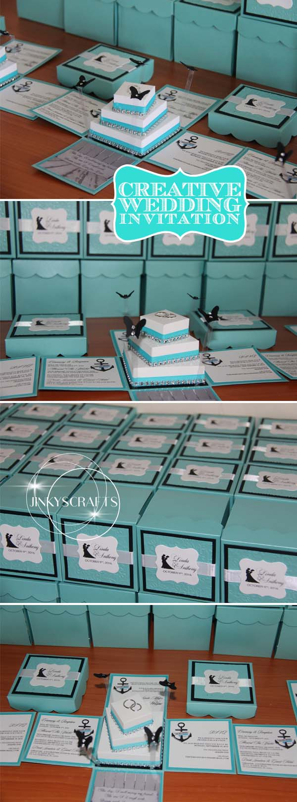Diy quinceanera invitation exploding box with 3 tier cake diy quinceanera invitation exploding box with 3 tier cake jinkys crafts solutioingenieria Images