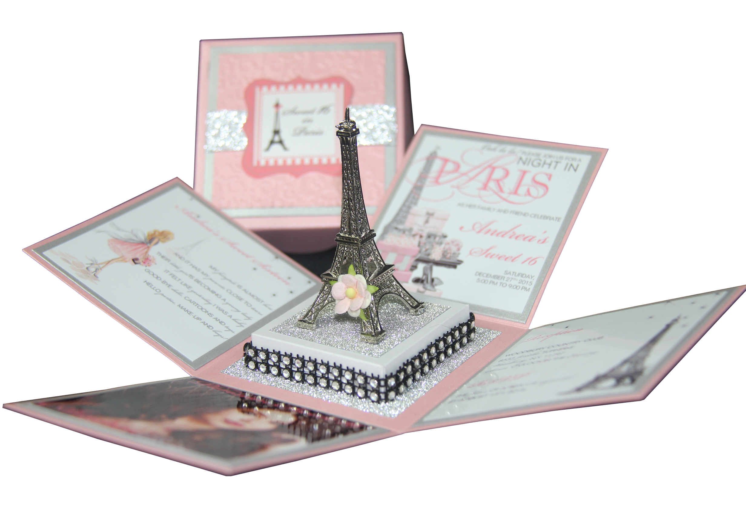blush eiffel tower exploding box invitation jinkys crafts