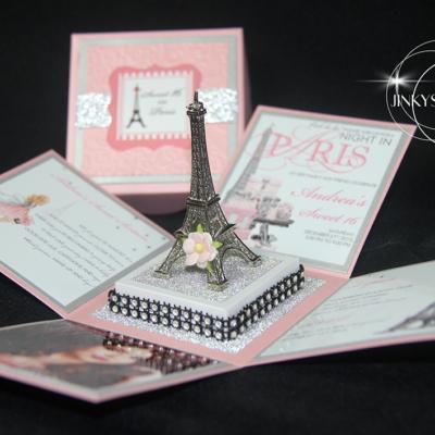 Parisian Party Invitations, Parisian Bridal Shower