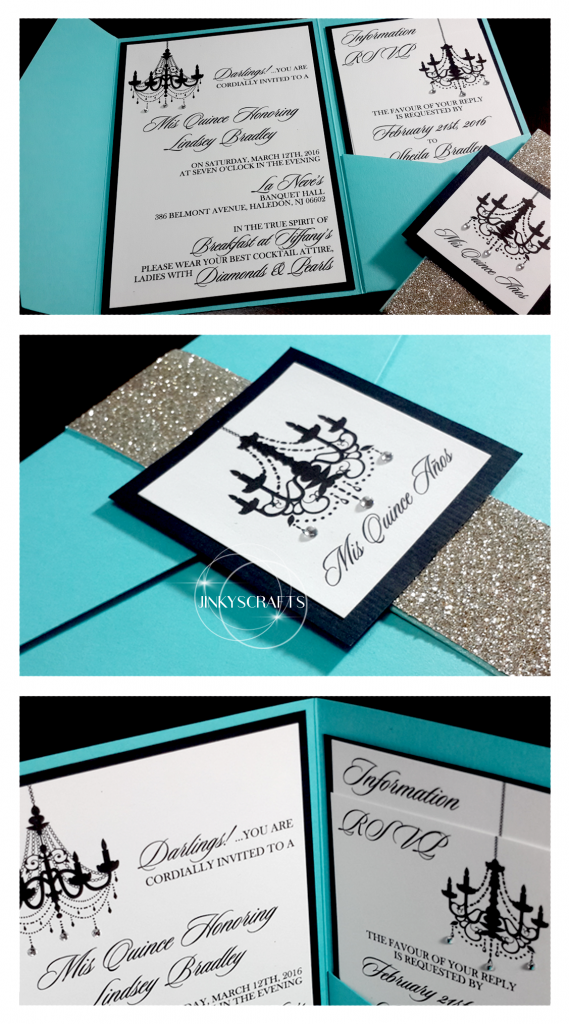 Pocketfold Tiffany Invitations - Jinkys Crafts