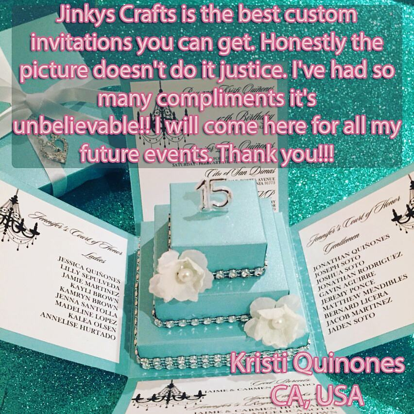 Diy quinceanera invitation exploding box with 3 tier cake tiffany quince invites fabulous quinceanera diy exploding box with 3 tier cake kit solutioingenieria Gallery