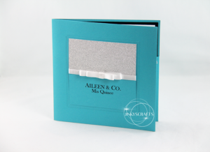 Tiffany Blue Pocketfold Quinceanera Invitation