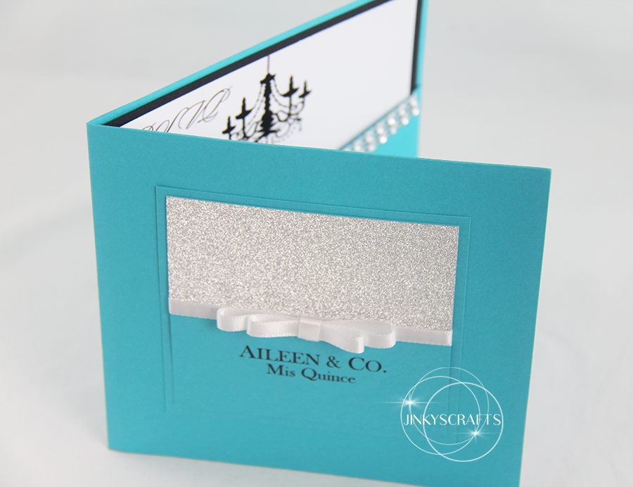Unique Hand-Crafter Quinceanera Invitation