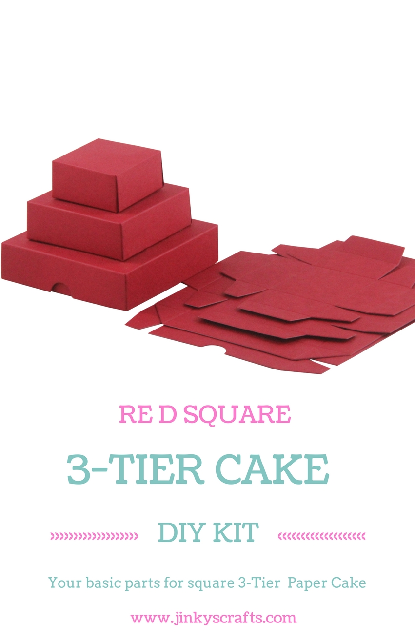 RED 3-TIER SQUARE DIY KIT - Jinkys Crafts