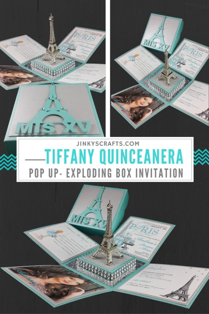 Tiffany Exploding Box With Eiffel Invitation Jinkys Crafts