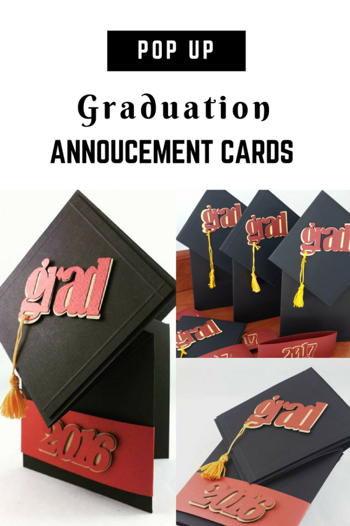 Earnings Disclaimer >> Graduation Announcement Exploding Box w/ 3D Books - Jinkys Crafts