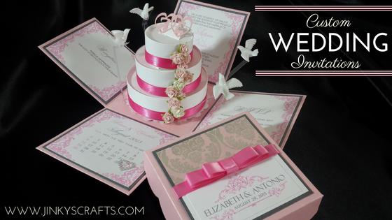 Custom Exploding Box Invitation Wedding Samples