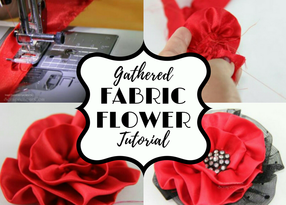 How to Make Gathered Ribbon Flower Tutorial – Freebie Friday