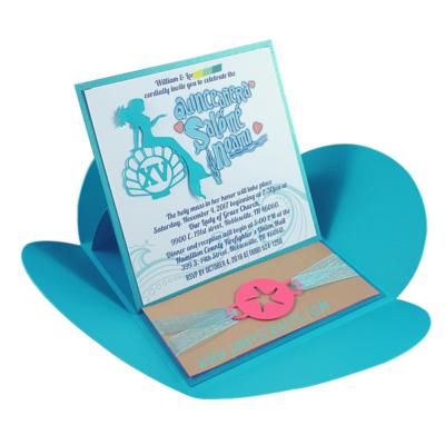 Ocean Themed Wedding Invitation