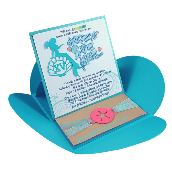 under the sea pochette pop up invitation jinkys crafts