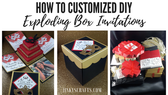 How To Customized A DIY Exploding Box Invitations