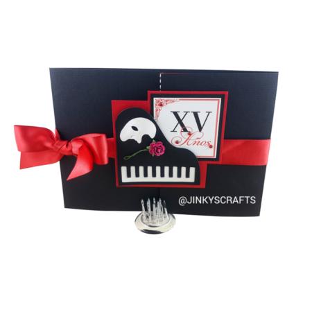 Phantom of The Opera Gatefold Invitations - Jinkys Crafts