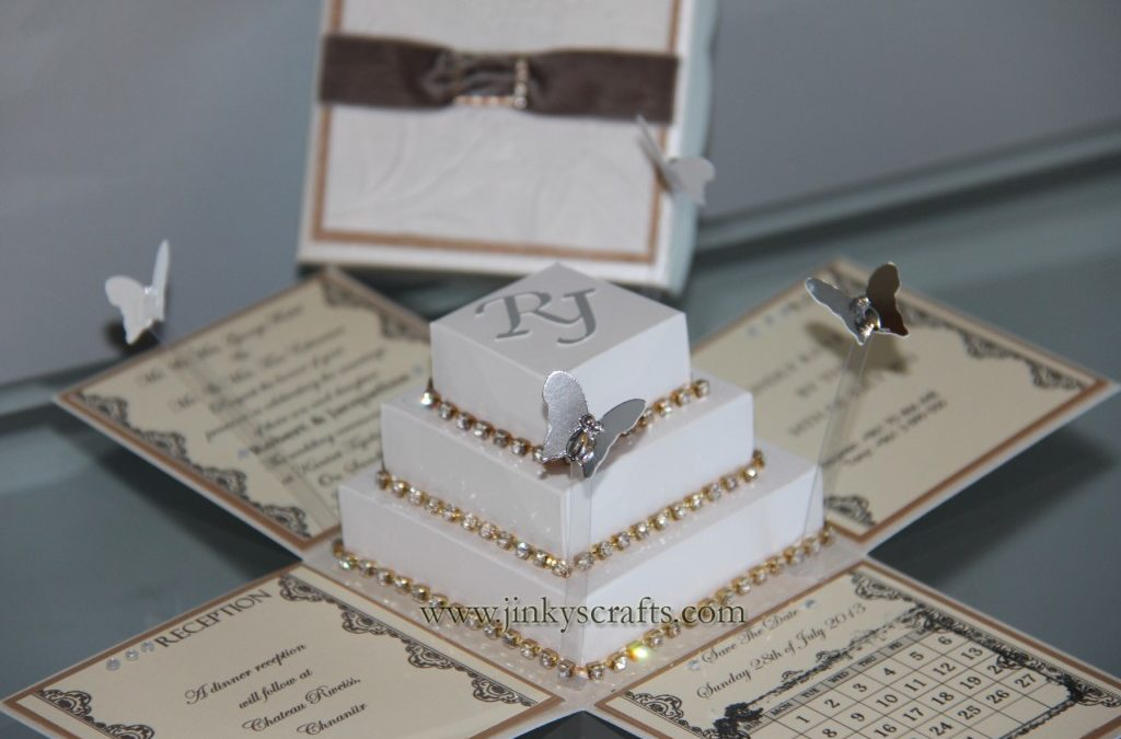 Lace Wedding Invitations Bling